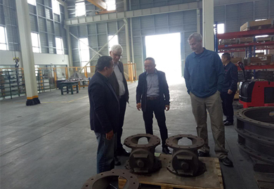 On March 14, 2018, our company warmly received two representatives from the American customer company